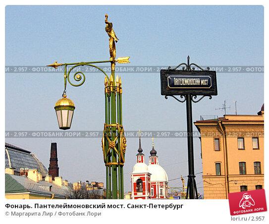 Фонарь. Пантелеймоновский мост. Санкт-Петербург, фото № 2957, снято 2 мая 2006 г. (c) Маргарита Лир / Фотобанк Лори