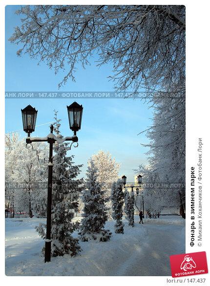 Фонарь в зимнем парке, фото № 147437, снято 13 декабря 2007 г. (c) Михаил Коханчиков / Фотобанк Лори