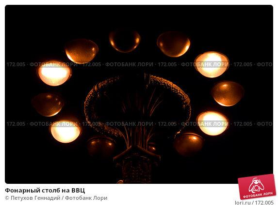 Фонарный столб на ВВЦ, фото № 172005, снято 19 июля 2007 г. (c) Петухов Геннадий / Фотобанк Лори