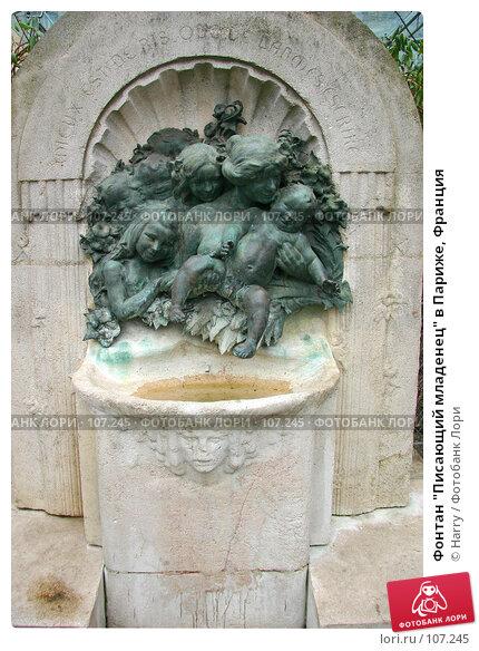"""Фонтан """"Писающий младенец"""" в Париже, Франция, фото № 107245, снято 27 февраля 2006 г. (c) Harry / Фотобанк Лори"""