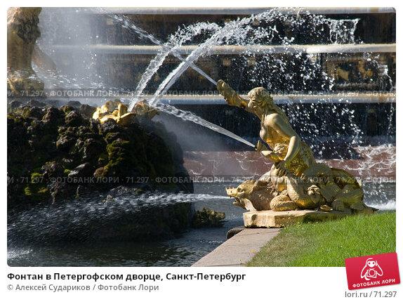 Фонтан в Петергофском дворце, Санкт-Петербург, фото № 71297, снято 11 августа 2007 г. (c) Алексей Судариков / Фотобанк Лори