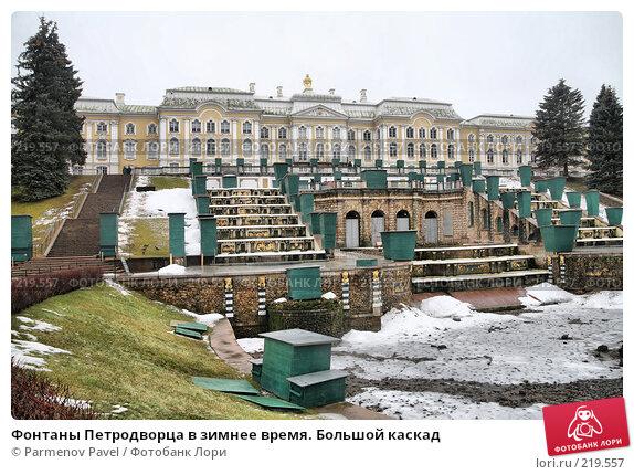 Фонтаны Петродворца в зимнее время. Большой каскад, фото № 219557, снято 13 февраля 2008 г. (c) Parmenov Pavel / Фотобанк Лори