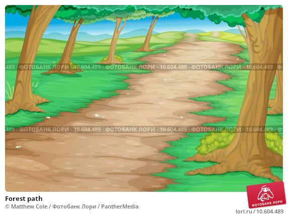 Forest path. Стоковая иллюстрация, иллюстратор Matthew Cole / PantherMedia / Фотобанк Лори