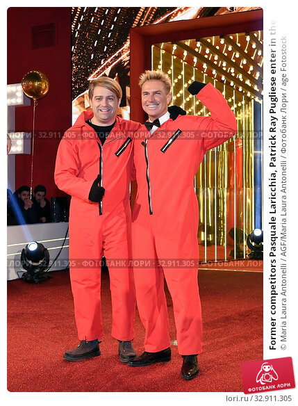 Former competitors Pasquale Laricchia, Patrick Ray Pugliese enter in the house of ' The grande fratello Vip ' ( The big brother Vip ) Rome, ITALY-08-01-2020. Редакционное фото, фотограф Maria Laura Antonelli / AGF/Maria Laura Antonelli / age Fotostock / Фотобанк Лори