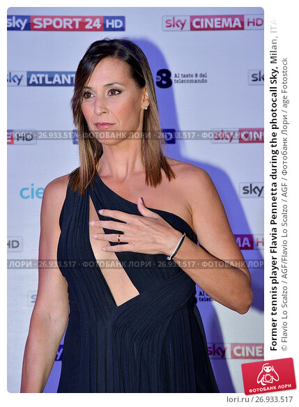 Former tennis player Flavia Pennetta during the photocall Sky, Milan, ITALY-12-09-2017., фото № 26933517, снято 12 сентября 2017 г. (c) age Fotostock / Фотобанк Лори