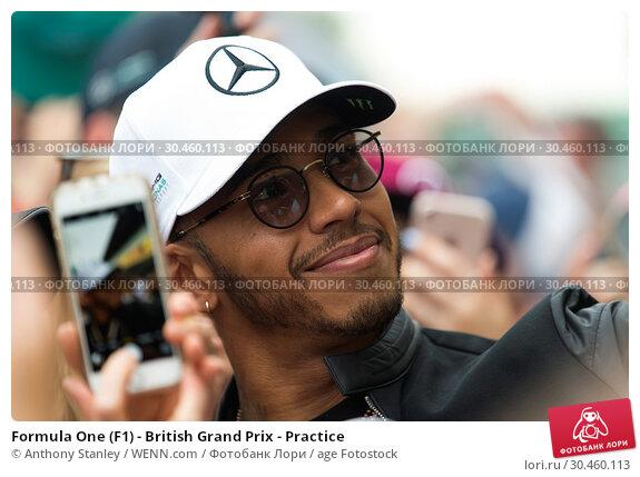 Formula One (F1) - British Grand Prix - Practice (2017 год). Редакционное фото, фотограф Anthony Stanley / WENN.com / age Fotostock / Фотобанк Лори
