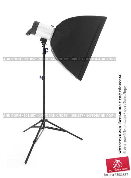 Купить «Фототехника. Вспышка с софтбоксом.», фото № 308857, снято 6 декабря 2007 г. (c) Анатолий Типляшин / Фотобанк Лори
