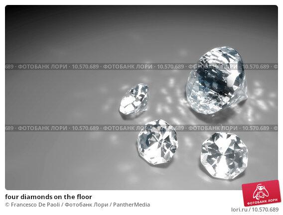 Купить «four diamonds on the floor», фото № 10570689, снято 22 марта 2019 г. (c) PantherMedia / Фотобанк Лори