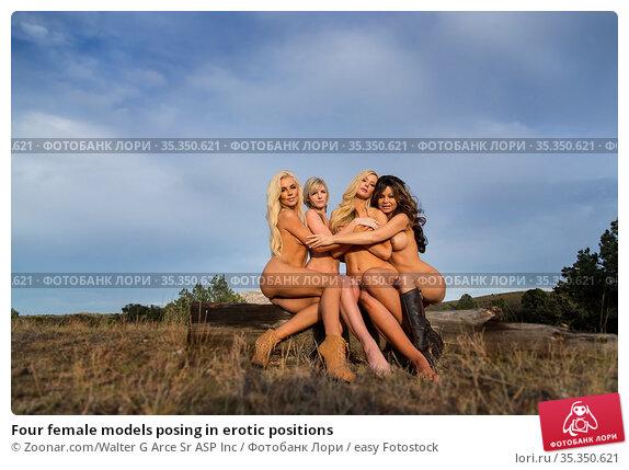 Four female models posing in erotic positions. Стоковое фото, фотограф Zoonar.com/Walter G Arce Sr ASP Inc / easy Fotostock / Фотобанк Лори