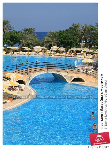 Фрагмент бассейна с мостиком, фото № 110317, снято 7 августа 2007 г. (c) Елена Блохина / Фотобанк Лори
