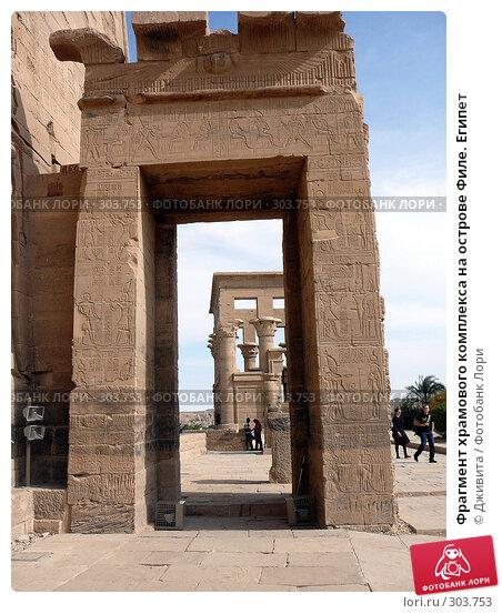 Фрагмент храмового комплекса на острове Филе. Египет, фото № 303753, снято 9 января 2008 г. (c) Дживита / Фотобанк Лори