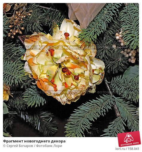 Фрагмент новогоднего декора, фото № 158041, снято 2 сентября 2007 г. (c) Сергей Бочаров / Фотобанк Лори