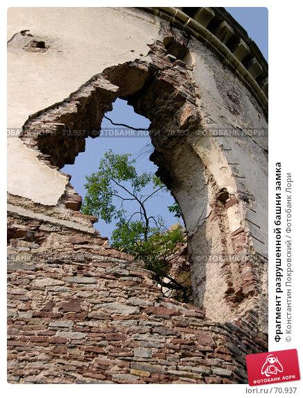 Фрагмент разрушенной башни замка, фото № 70937, снято 11 августа 2007 г. (c) Константин Покровский / Фотобанк Лори