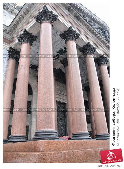 Фрагмент собора. Колоннада, фото № 203789, снято 6 февраля 2008 г. (c) Parmenov Pavel / Фотобанк Лори