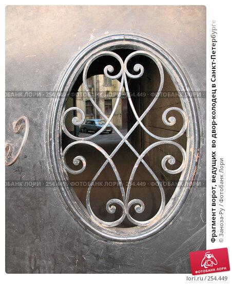 Купить «Фрагмент ворот, ведущих  во двор-колодец в Санкт-Петербурге», фото № 254449, снято 12 апреля 2008 г. (c) Заноза-Ру / Фотобанк Лори