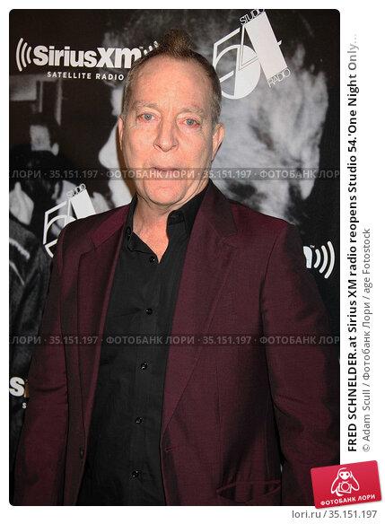 FRED SCHNELDER.at Sirius XM radio reopens Studio 54.'One Night Only... (2011 год). Редакционное фото, фотограф Adam Scull / age Fotostock / Фотобанк Лори