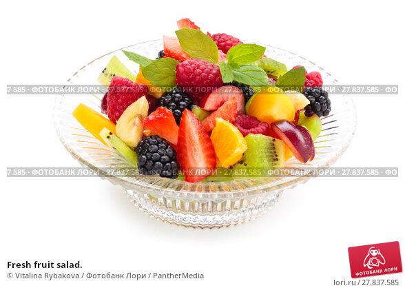 Купить «Fresh fruit salad.», фото № 27837585, снято 22 февраля 2018 г. (c) PantherMedia / Фотобанк Лори
