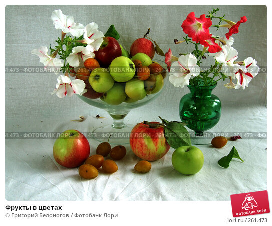 Фрукты в цветах, фото № 261473, снято 9 сентября 2007 г. (c) Григорий Белоногов / Фотобанк Лори