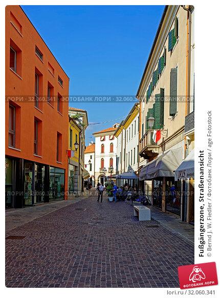Fußgängerzone, Straßenansicht. Стоковое фото, фотограф Bernd J. W. Fiedler / age Fotostock / Фотобанк Лори