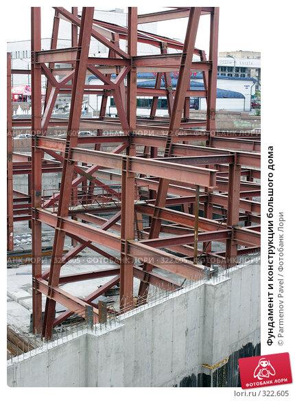 Фундамент и конструкции большого дома, фото № 322605, снято 22 мая 2008 г. (c) Parmenov Pavel / Фотобанк Лори