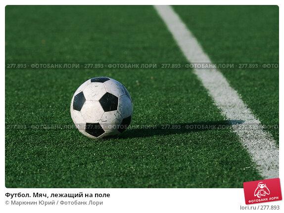 Футбол. Мяч, лежащий на поле, фото № 277893, снято 27 апреля 2008 г. (c) Марюнин Юрий / Фотобанк Лори