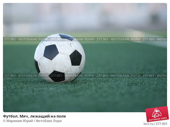 Футбол. Мяч, лежащий на поле, фото № 277901, снято 27 апреля 2008 г. (c) Марюнин Юрий / Фотобанк Лори