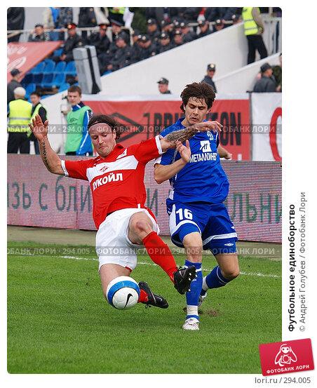Купить «Футбольное единоборство», фото № 294005, снято 13 апреля 2008 г. (c) Андрей Голубев / Фотобанк Лори