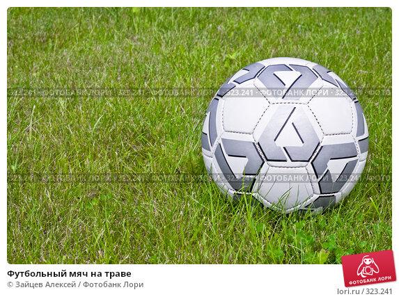 Футбольный мяч на траве, фото № 323241, снято 13 июня 2008 г. (c) Зайцев Алексей / Фотобанк Лори