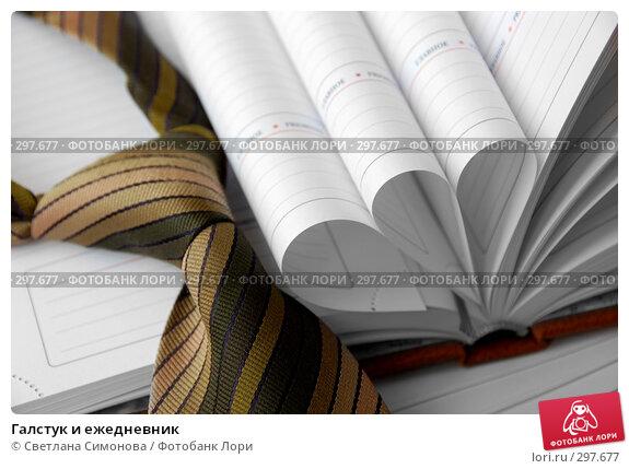 Купить «Галстук и ежедневник», фото № 297677, снято 22 мая 2008 г. (c) Светлана Симонова / Фотобанк Лори