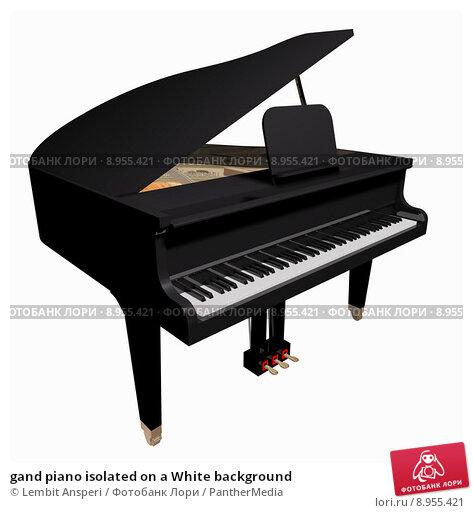 Купить «gand piano isolated on a White background», иллюстрация № 8955421 (c) PantherMedia / Фотобанк Лори