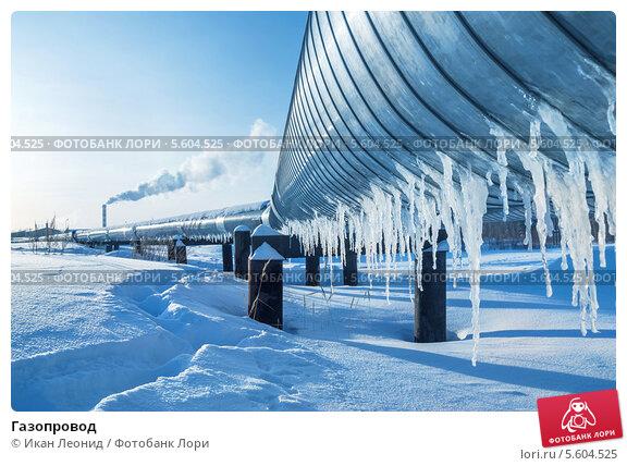 Купить «Газопровод», фото № 5604525, снято 7 февраля 2014 г. (c) Икан Леонид / Фотобанк Лори