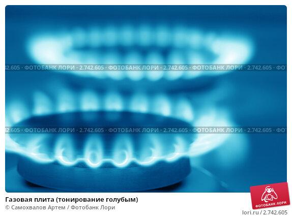 Купить «Газовая плита (тонирование голубым)», фото № 2742605, снято 19 марта 2011 г. (c) Самохвалов Артем / Фотобанк Лори