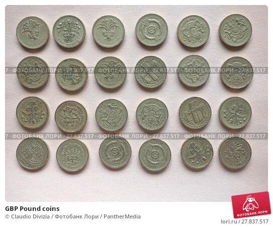 Купить «GBP Pound coins», фото № 27837517, снято 18 февраля 2018 г. (c) PantherMedia / Фотобанк Лори