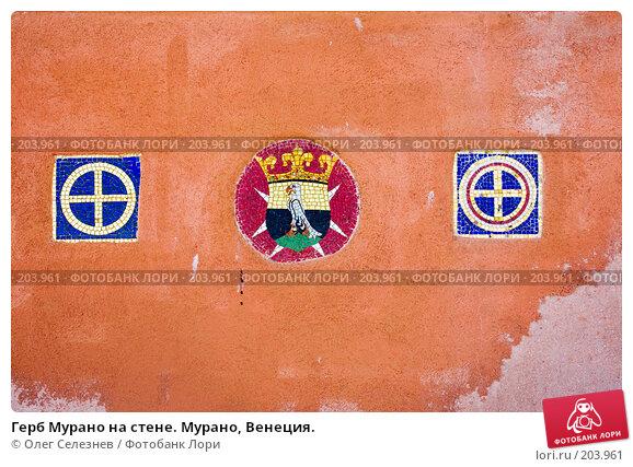 Герб Мурано на стене. Мурано, Венеция., фото № 203961, снято 6 мая 2007 г. (c) Олег Селезнев / Фотобанк Лори