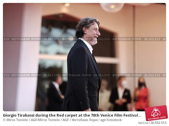 Giorgio Tirabassi during the Red carpet at the 78th Venice Film Festival... Редакционное фото, фотограф Mirco Toniolo / AGF/Mirco Toniolo / AGF / age Fotostock / Фотобанк Лори