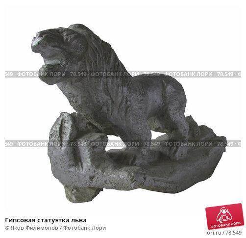 Купить «Гипсовая статуэтка льва», фото № 78549, снято 2 сентября 2007 г. (c) Яков Филимонов / Фотобанк Лори