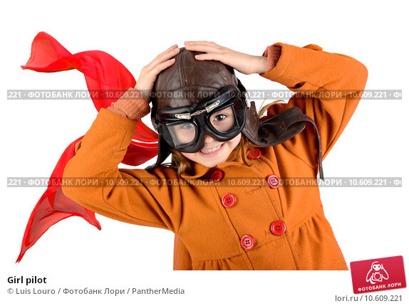 Girl pilot. Стоковое фото, фотограф Luis Louro / PantherMedia / Фотобанк Лори