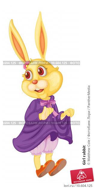 Girl rabbit. Стоковая иллюстрация, иллюстратор Matthew Cole / PantherMedia / Фотобанк Лори