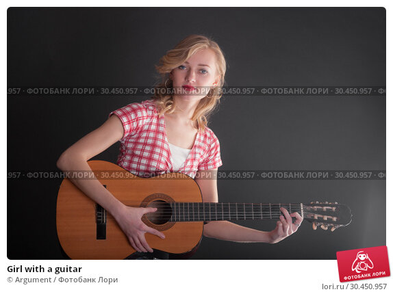 Girl with a guitar. Стоковое фото, фотограф Argument / Фотобанк Лори