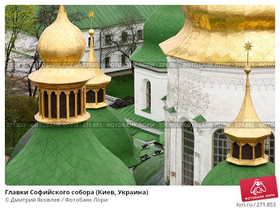 Купить «Главки Софийского собора (Киев, Украина)», фото № 271853, снято 13 апреля 2008 г. (c) Дмитрий Яковлев / Фотобанк Лори