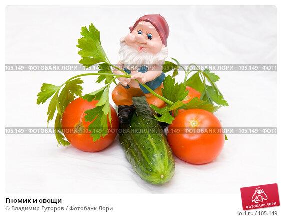 Гномик и овощи, фото № 105149, снято 23 мая 2017 г. (c) Владимир Гуторов / Фотобанк Лори