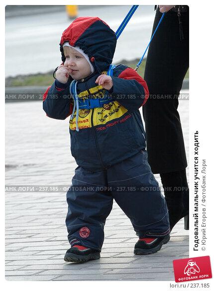 Купить «Годовалый мальчик учится ходить», фото № 237185, снято 20 марта 2018 г. (c) Юрий Егоров / Фотобанк Лори