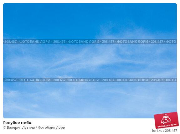 Голубое небо, фото № 208457, снято 29 августа 2007 г. (c) Валерия Потапова / Фотобанк Лори