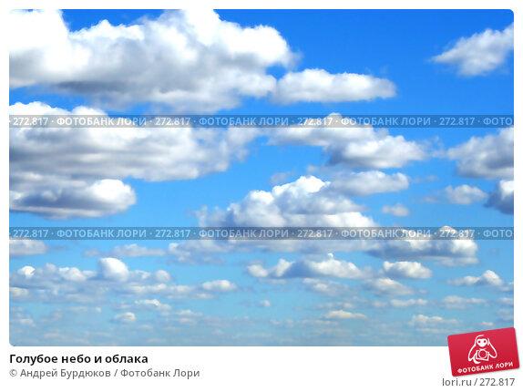 Купить «Голубое небо и облака», фото № 272817, снято 16 сентября 2006 г. (c) Андрей Бурдюков / Фотобанк Лори