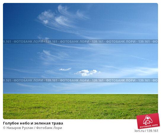 Голубое небо и зеленая трава, фото № 139161, снято 27 июля 2007 г. (c) Насыров Руслан / Фотобанк Лори