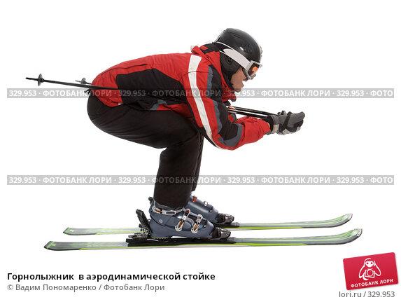 Горнолыжник  в аэродинамической стойке, фото № 329953, снято 8 июня 2008 г. (c) Вадим Пономаренко / Фотобанк Лори