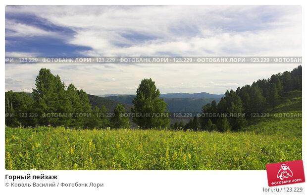 Горный пейзаж, фото № 123229, снято 21 июля 2017 г. (c) Коваль Василий / Фотобанк Лори