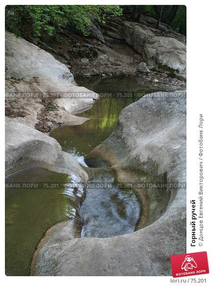 Горный ручей, фото № 75201, снято 11 августа 2007 г. (c) Донцов Евгений Викторович / Фотобанк Лори