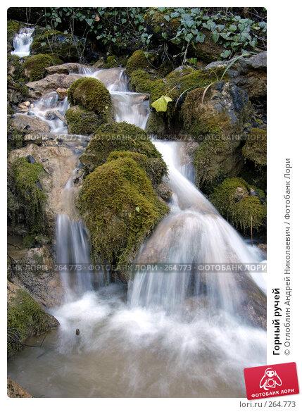 Купить «Горный ручей», фото № 264773, снято 30 ноября 2003 г. (c) Оглоблин Андрей Николаевич / Фотобанк Лори