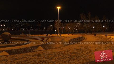 Купить «Город Екатеринбург ночью. Деловой центр. Yekaterinburg city at night. Downtown.», видеоролик № 29916461, снято 9 февраля 2019 г. (c) Евгений Романов / Фотобанк Лори
